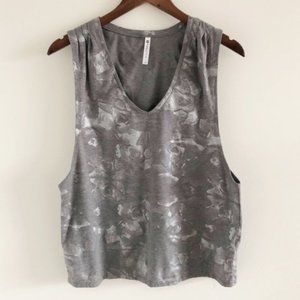 Fabletics Taryn Printed V-Neck Muscle Tank Top L